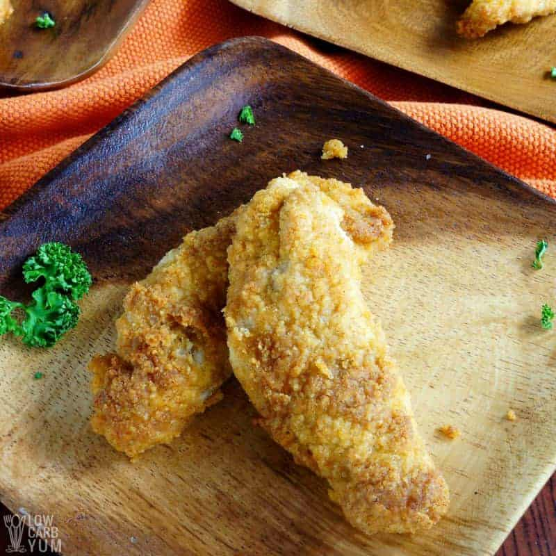 Paleo Low Carb Keto Coconut Flour Chicken Tenders