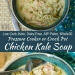 Crock Pot or pressure cooker chicken kale soup