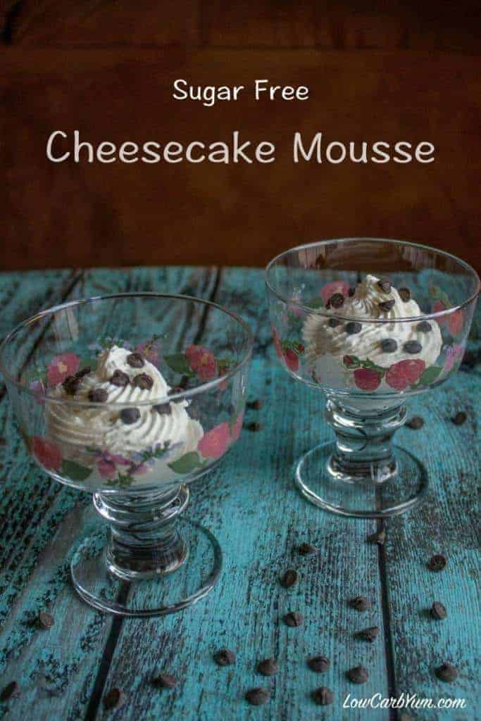 Delicious sugar free cheesecake keto mousse