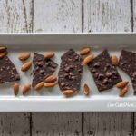 sugar free dark chocolate almond bark with sea salt