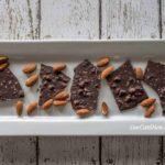 sugar free dark chocolate almond bark with sea salt