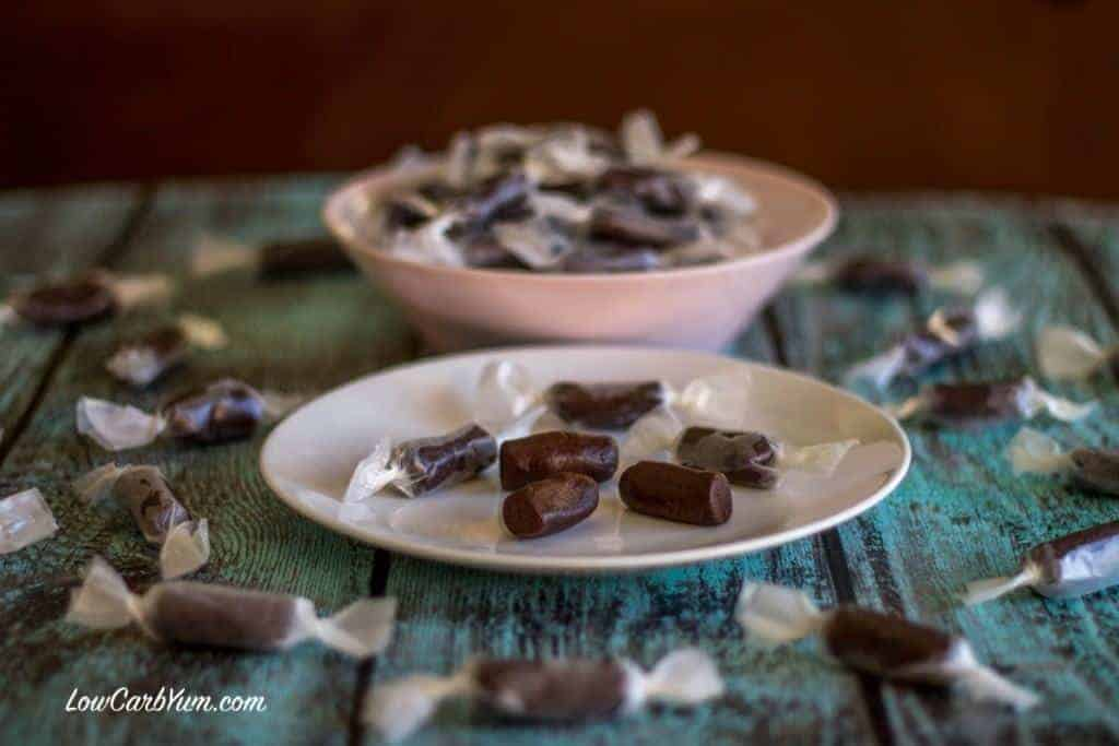 These easy to make healthier homemade tootsie rolls are sweetened with stevia and an all natural high fiber sweetener. You won't believe they are sugar free.
