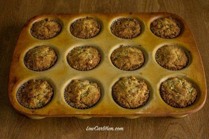 Gluten free zucchini spice cake cupcakes