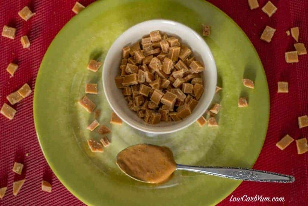 Homemade Sugar Free Peanut Butter Chips Featured
