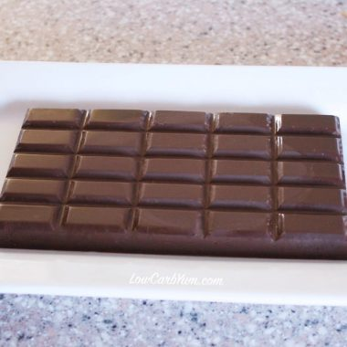 Sugar-Free Chocolate Bars with Stevia