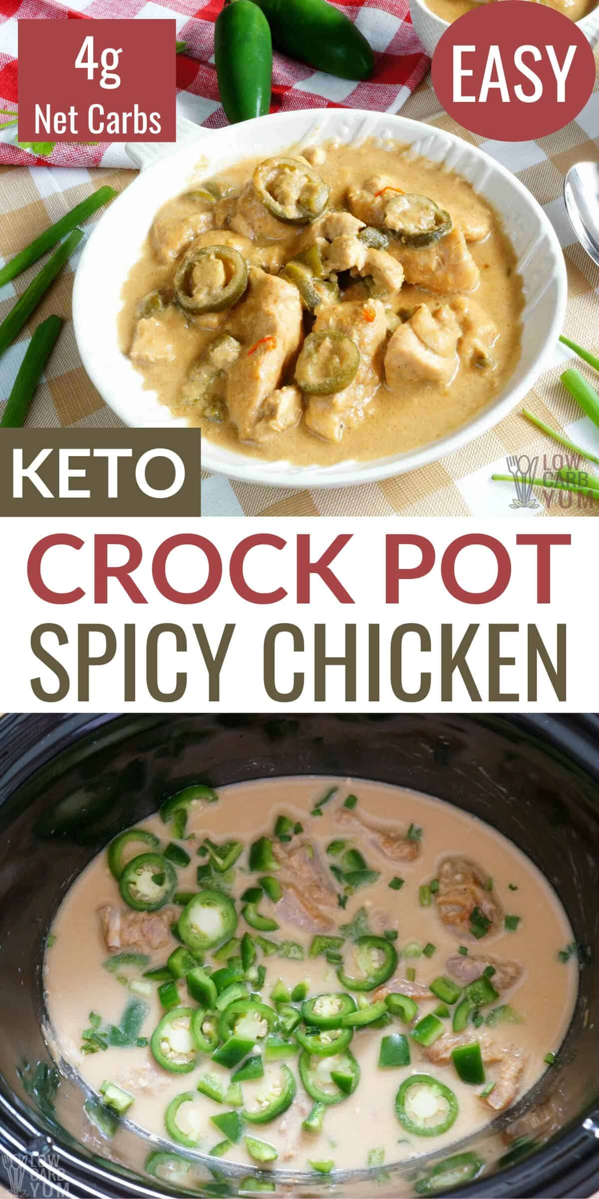 spicy crock pot chicken recipe