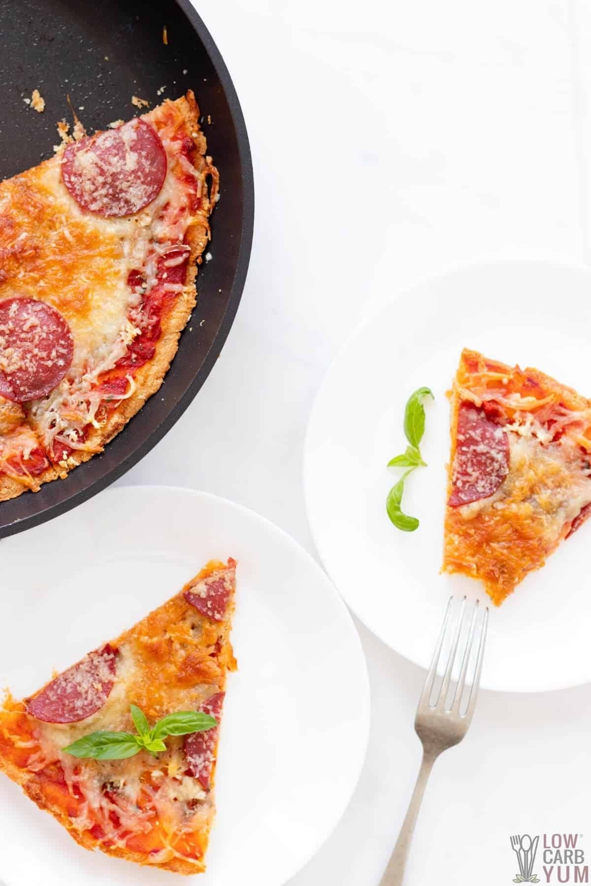 overhead of fathead pizza dough recipe