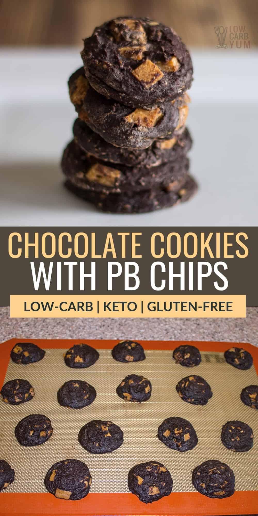 flourless chocolate cookies peanut butter chips pinterest image