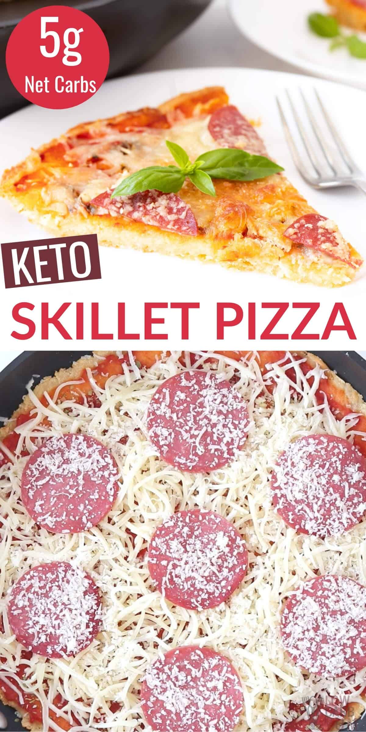 keto skillet pizza recipe