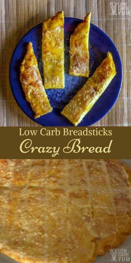 Low carb breadsticks Crazy Bread recipe
