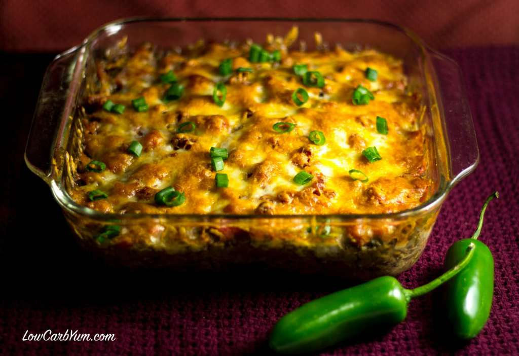 Southwest Casserole with Ground Beef and Beans | Low Carb Yum