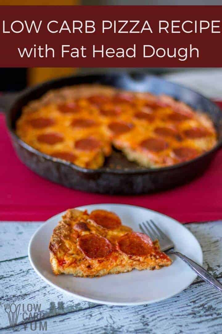 Chicago thick crust low carb pizza recipe with Fat Head dough