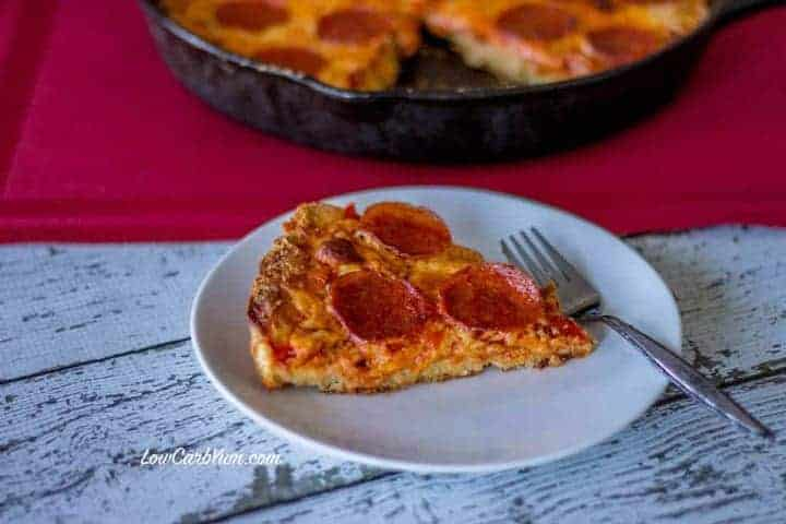 Thick crust low carb pizza recipe with Fat Head dough