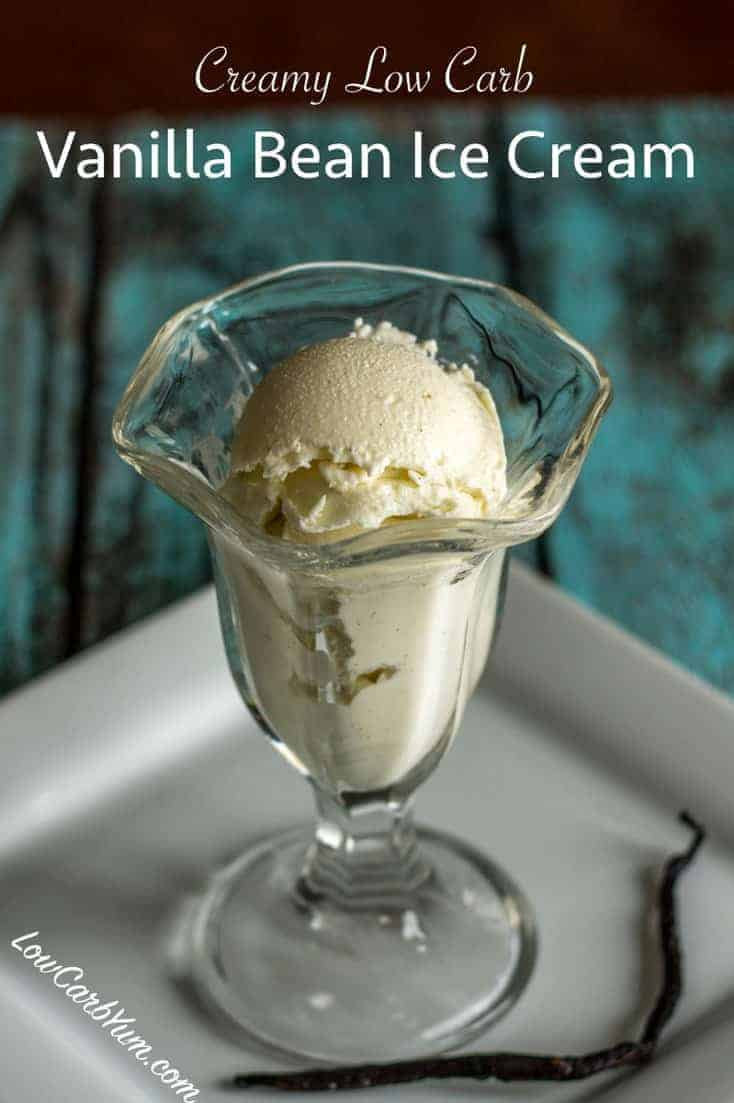 A homemade vanilla sugar free ice cream recipe that results in a smooth and creamy texture. This low carb ice cream tastes similar to premium brands.