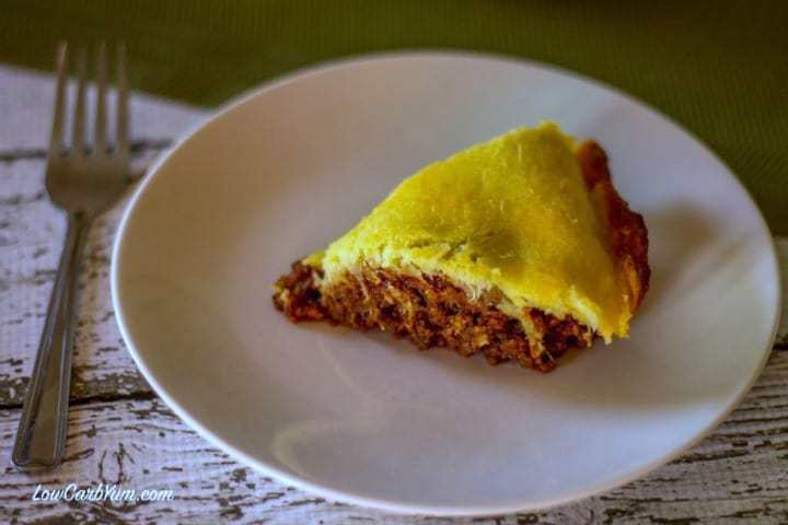 Easy low carb sloppy joe pie casserole