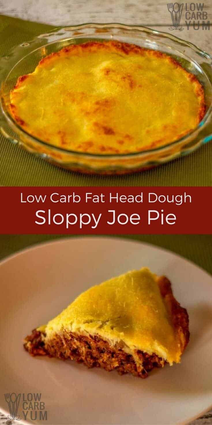 A low carb sloppy joe pie casserole recipe that is simple to prepare. Cooked ground meat is combined with a tangy sauce and topped with a gluten free crust.