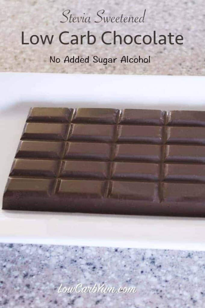 VitaFiber homemade sugar free chocolate bar stevia recipe