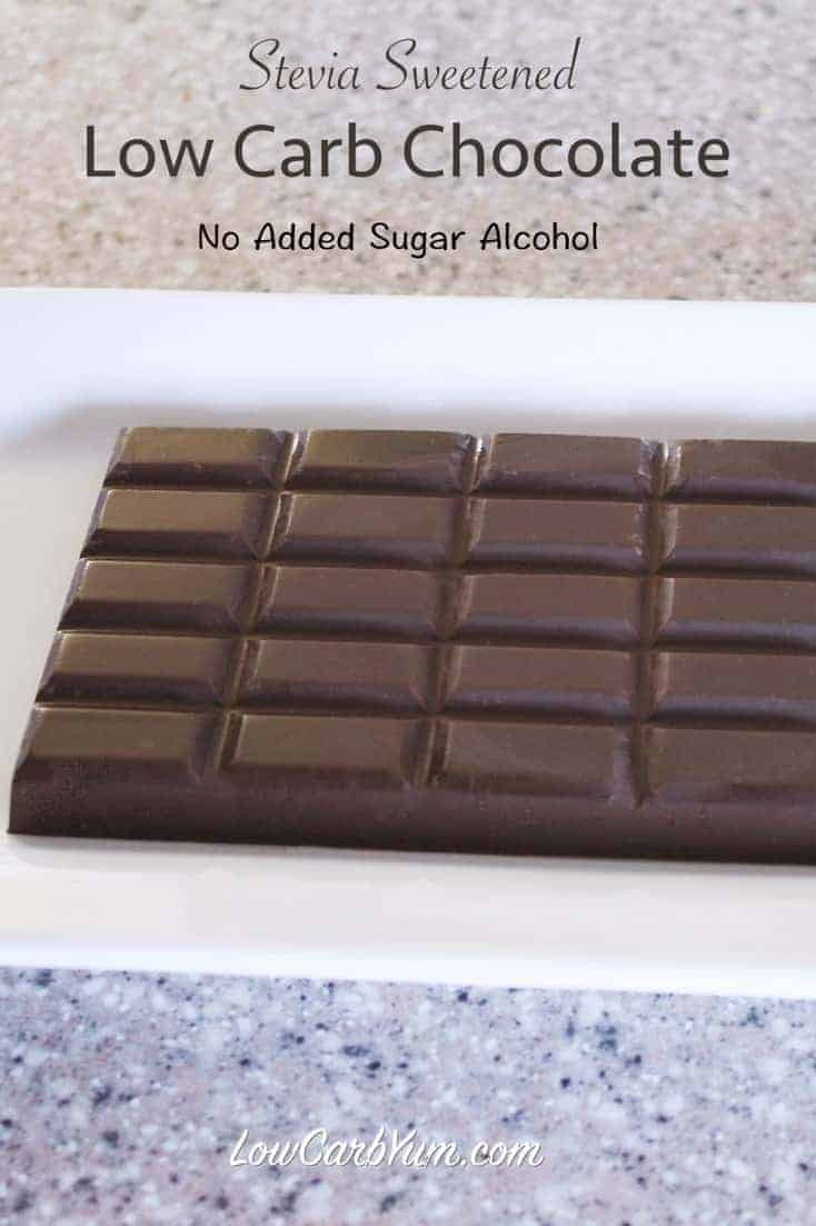 sugar free chocolate recipe made with stevia