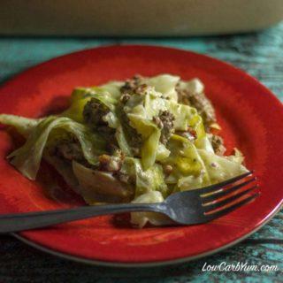 Creamed Cabbage & Ground Beef Casserole