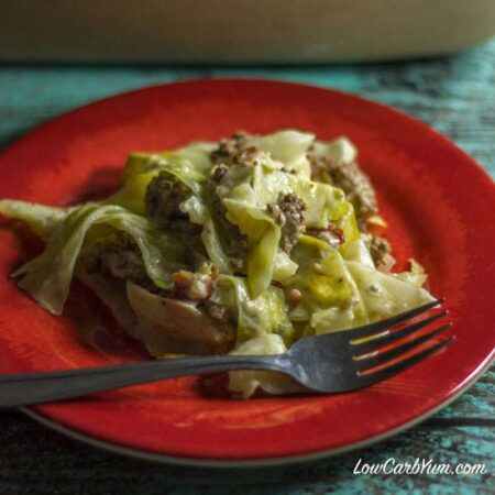 Creamed Cabbage & Ground Beef Casserole