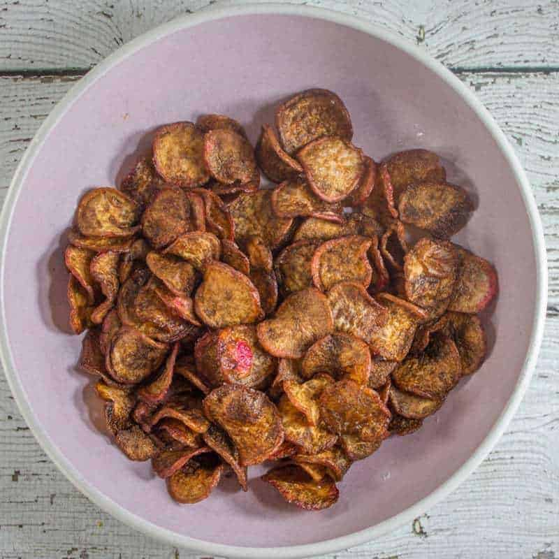 Radish Chips – A Perfect Low Carb Snack
