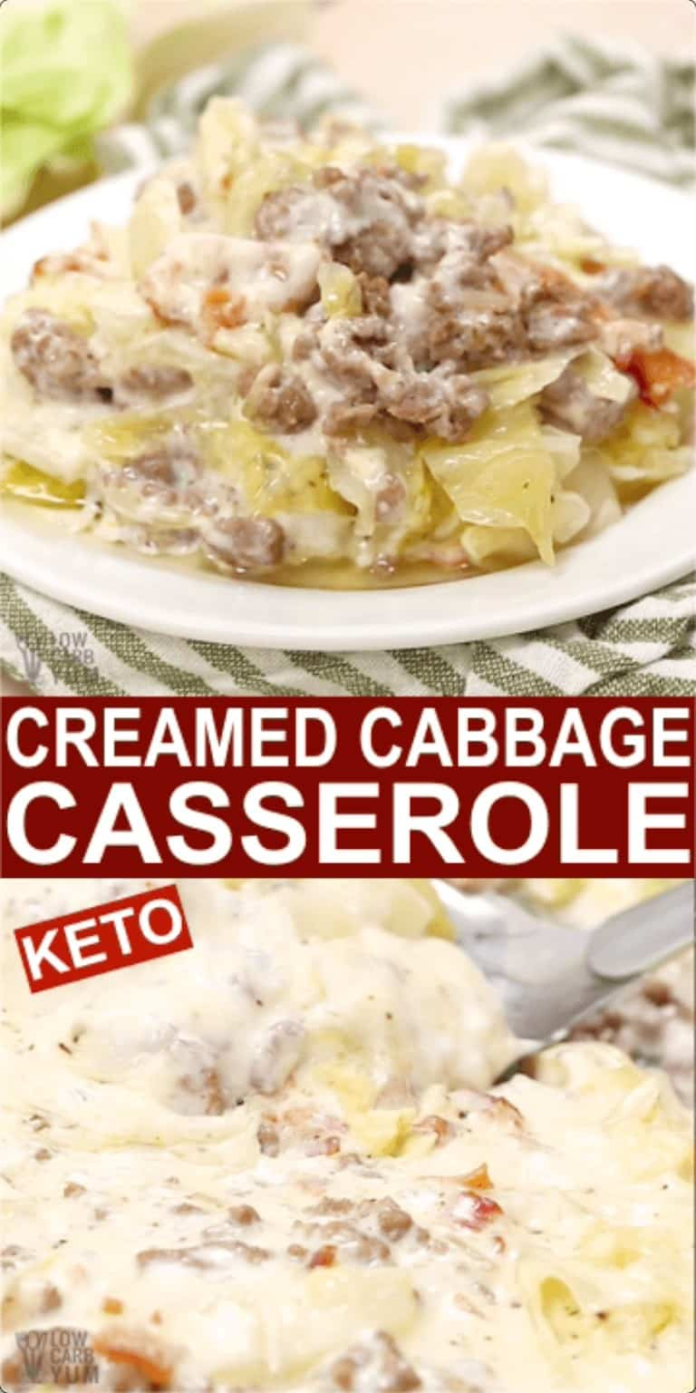 creamed cabbage pinterest image
