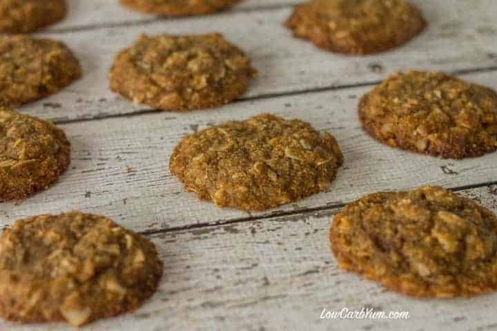keto LCHF brown butter coconut cookies recipe