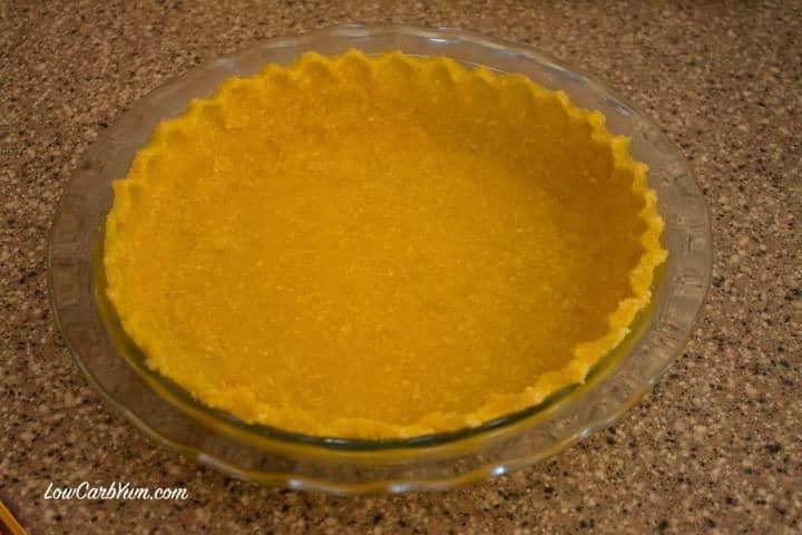 keto low carb coconut almond flour pie crust