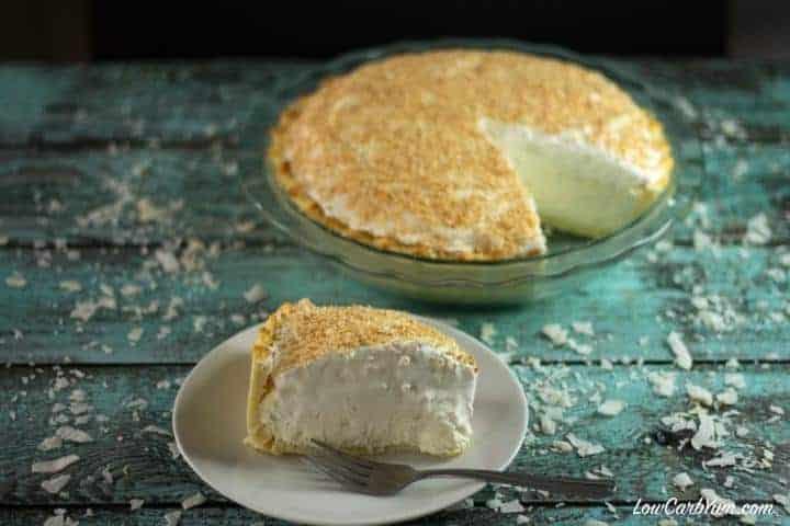 keto low carb coconut cream pie recipe