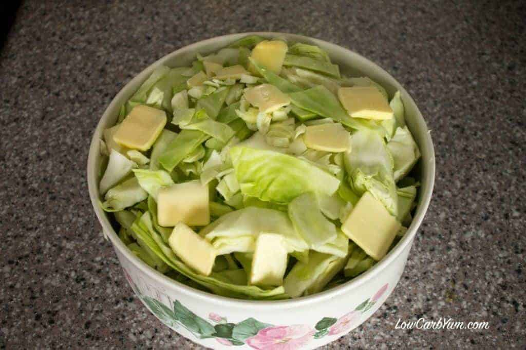 low carb cabbage microwave cook