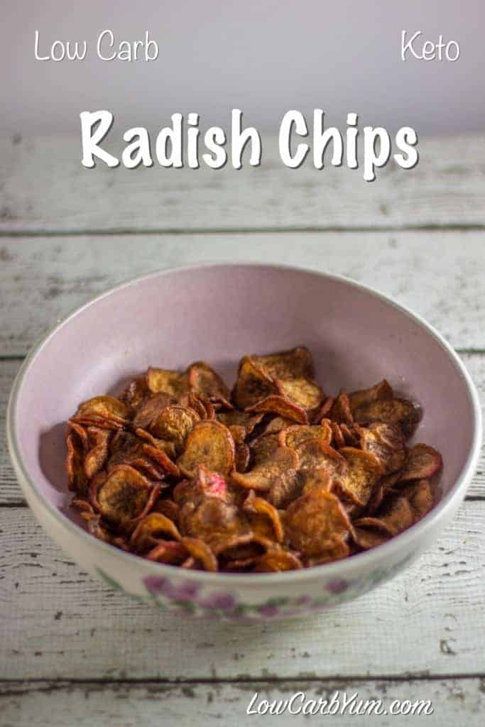 low carb fried radish chips recipe