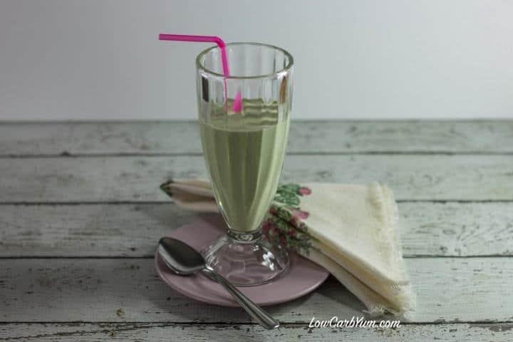 low carb all natural shamrock shake recipe