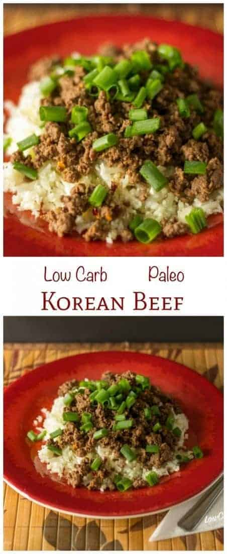 This low carb Korean beef recipe mixes sweet and spicy seasonings. It's a dish that can be cooked and served within 15 minutes. Paleo Keto LCHF Banting Recipe