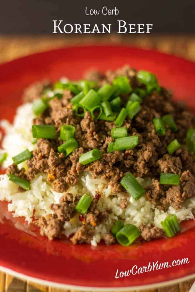 low carb korean beef recipe