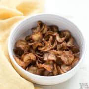 radish chips in bowl