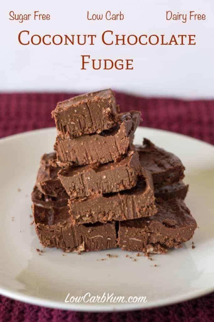 sugar free coconut chocolate fudge recipe