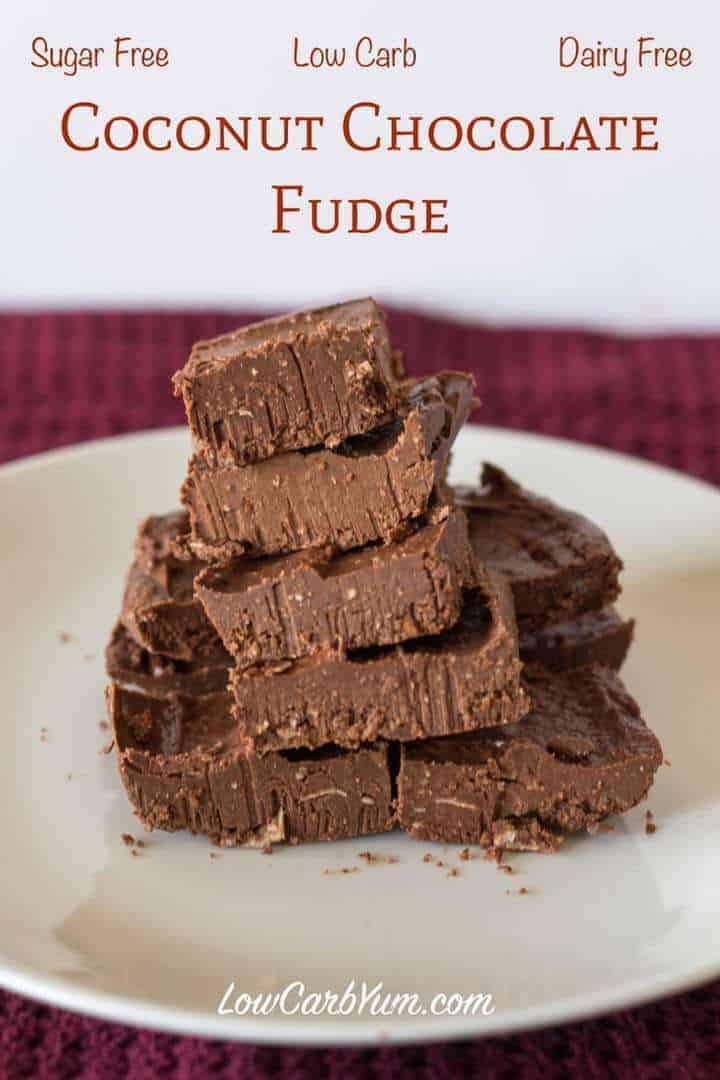 chocolate fudge made with coconut oil and almond or coconut milk ...