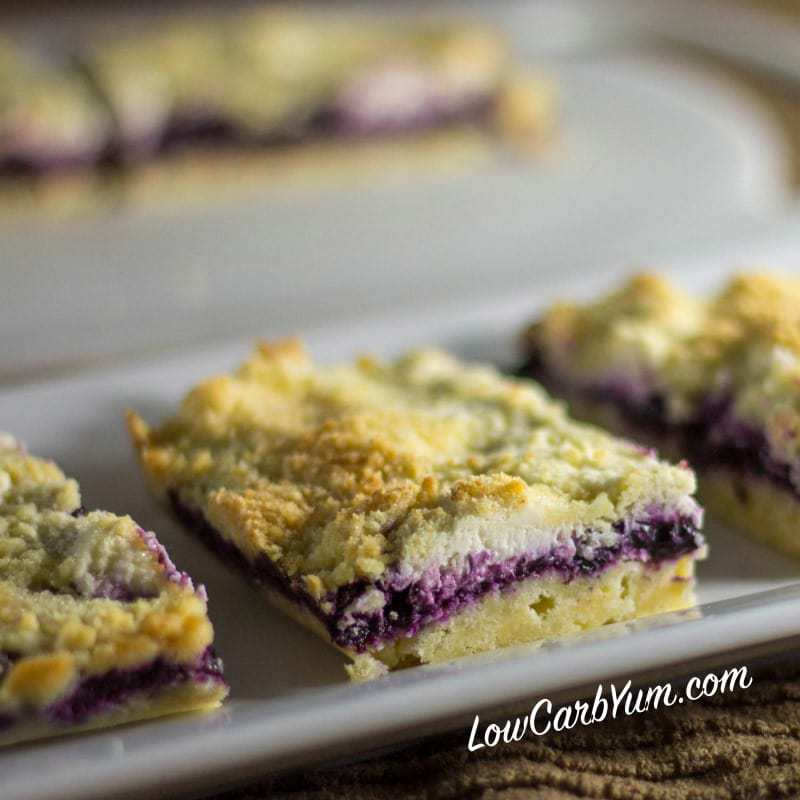 Blueberry Jam Cheesecake Bars – Gluten Free