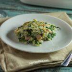 Spinach, Cauliflower Rice and Ham Casserole