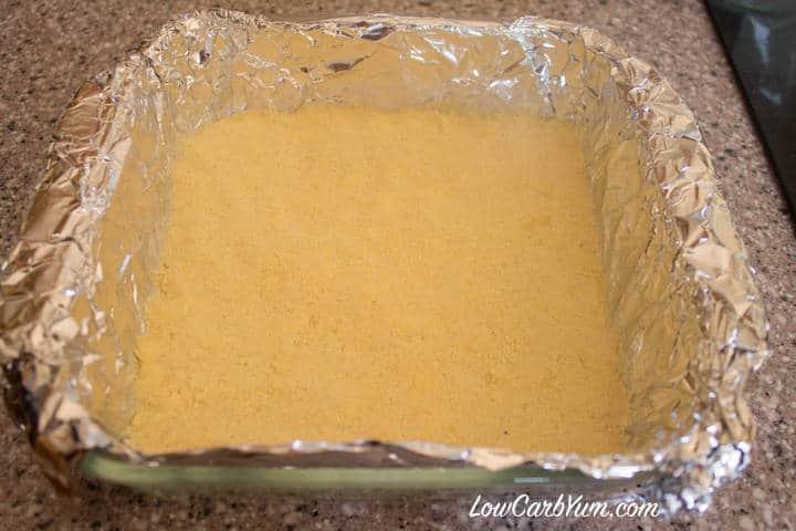 crust pressed in pan