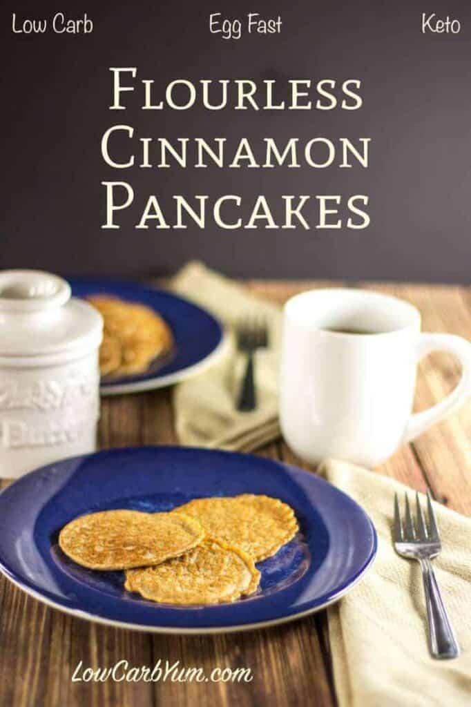 egg fast flourless cinnamon pancakes recipe