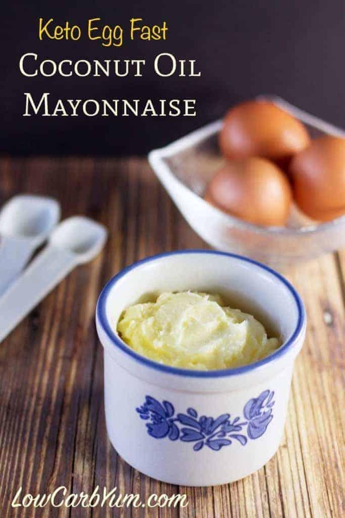 ketogenic egg fast coconut oil mayonnaise recipe
