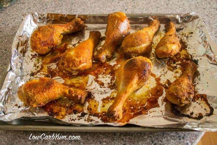 low carb chicken drumstick baked