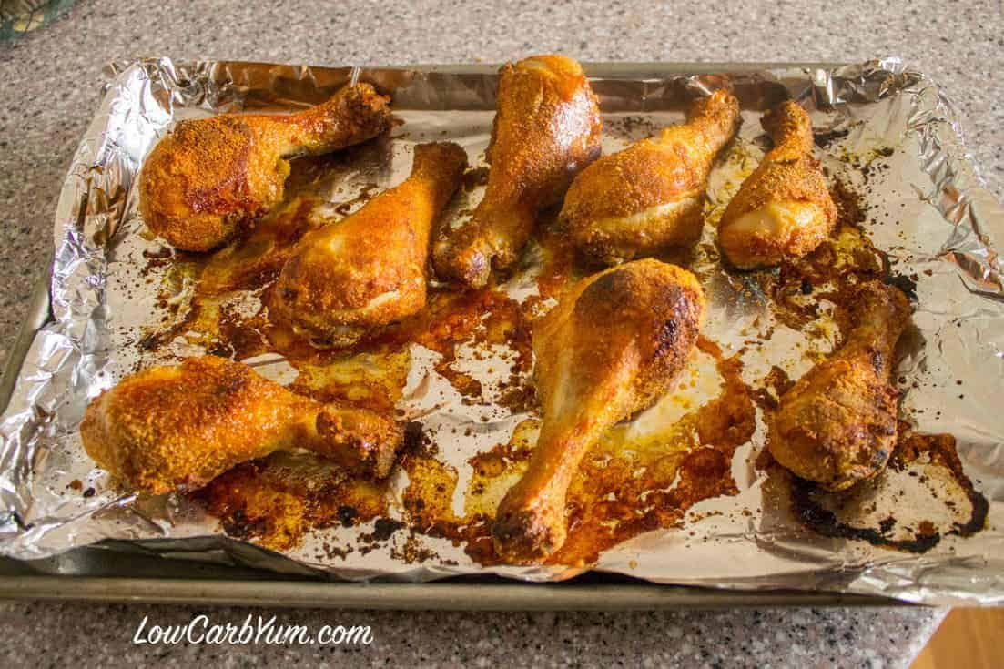 gluten free shake and bake chicken drumstick baked