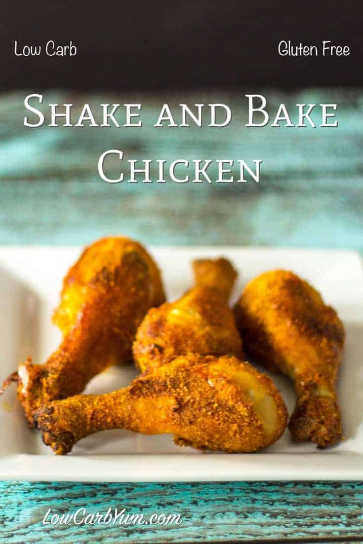 Simple oven fried gluten free shake and bake chicken recipe cover