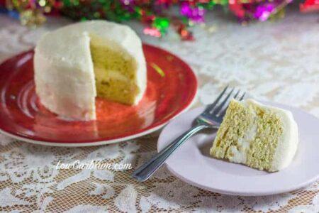 low carb yellow birthday mug cake recipe