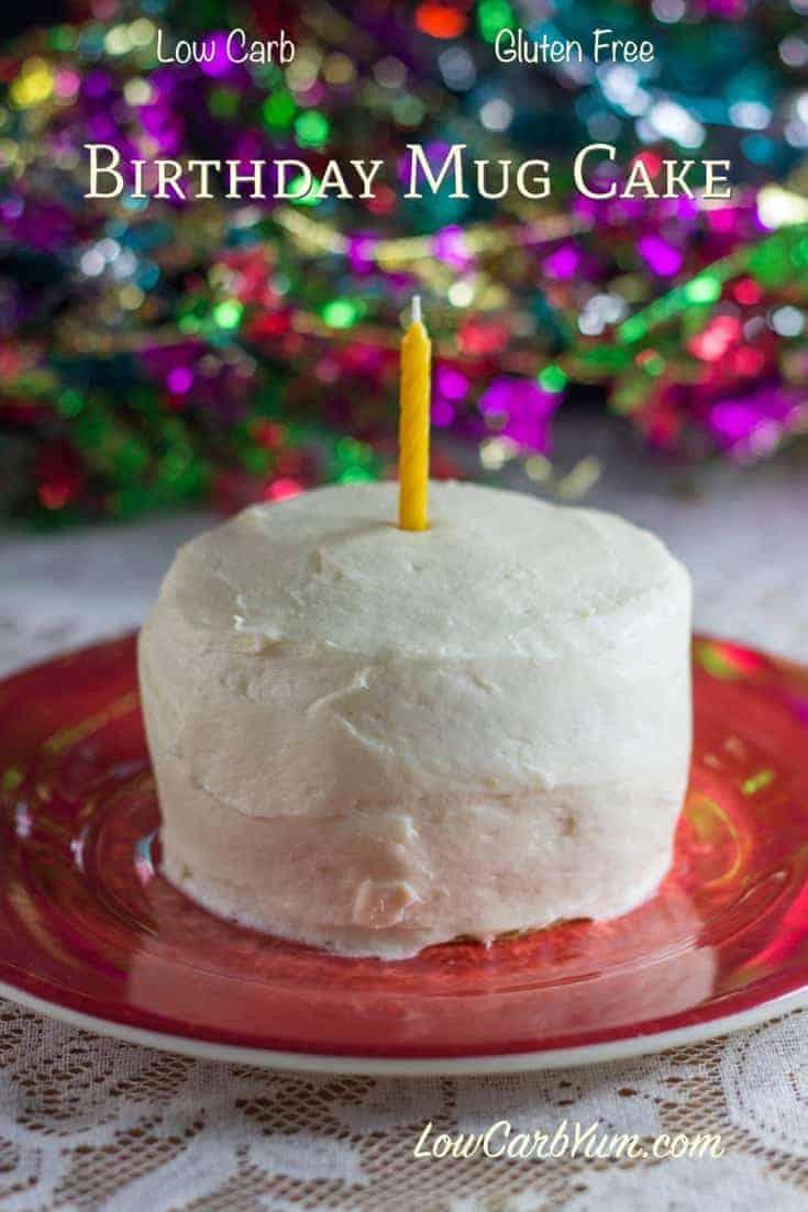 Low Carb Birthday Cake In A Mug