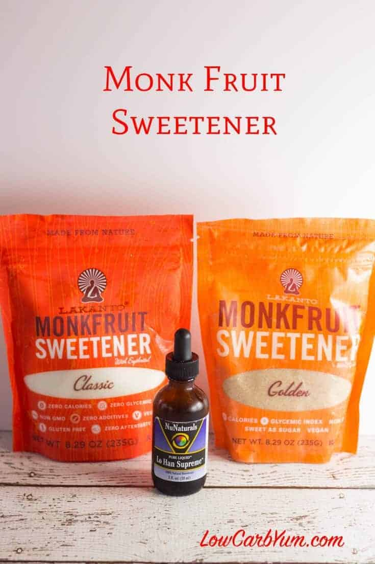 Monk Fruit Extract Sweetener | Low Carb Yum