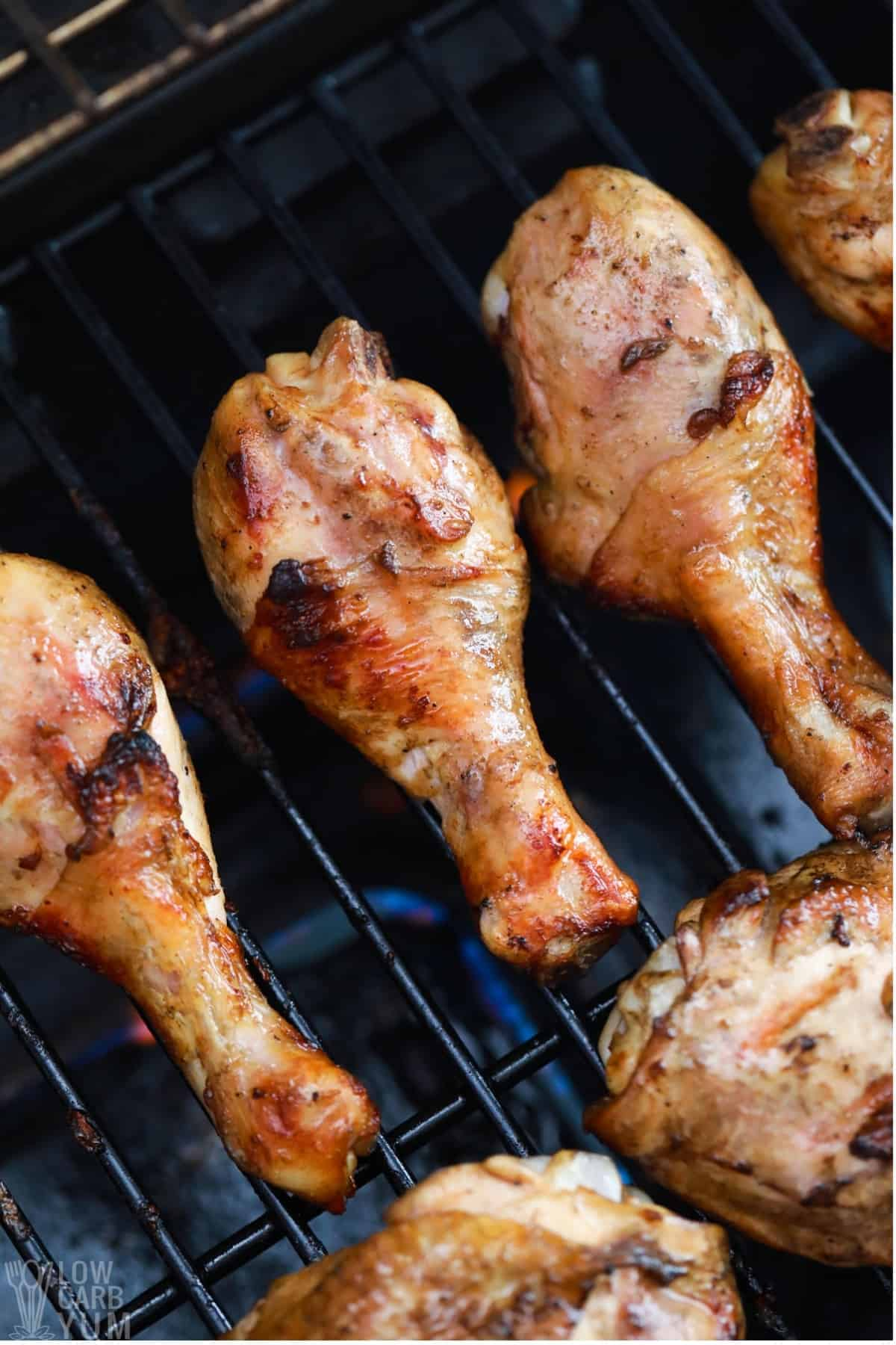 chicken cooking on grill