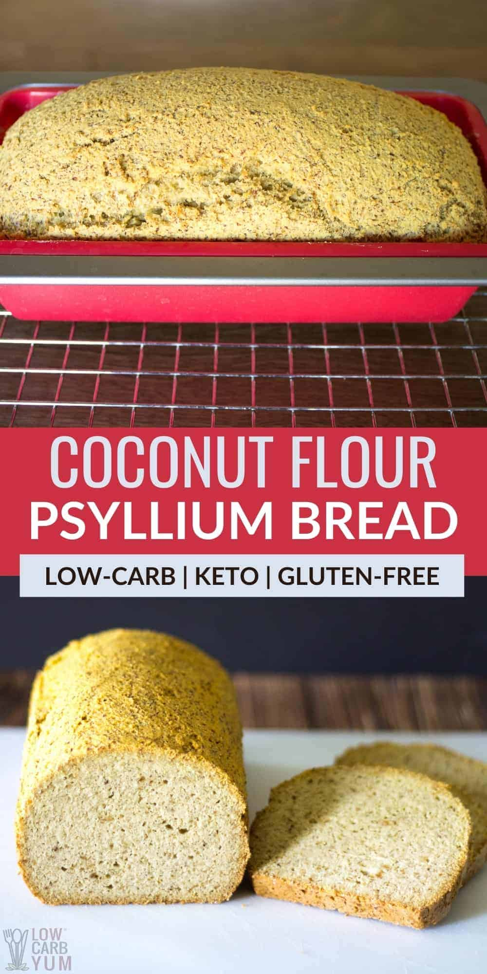 coconut flour psyllium bread pinterest image